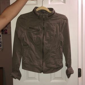 jean like taupeish brownish jacket